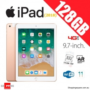 Apple iPad 9.7 (2018) 128GB WiFi + Cellular 4G LTE Tablet Computer PC Gold