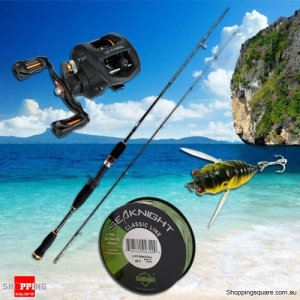 Fishing Combo Set Kit with 1.65M Telescopic Casting Rod 10+1BB Reel 500M PE Line 6g Cicada Bait