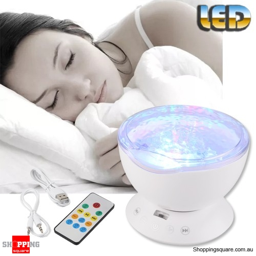 USB LED Night Projector Luminaria Lamp Light Ocean Wave Starry Sky Aurora Atmostphere White Colour