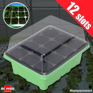 12 Holes Plant Seeds Grow Sprout Box Tray Tool Container for Garden