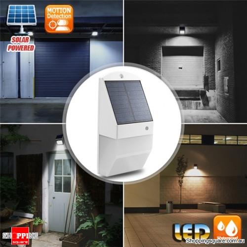 25 LED Solar Powered Waterproof PIR Motion Detection Wall Light Lamp for Outdoor Yard Garden Landscape - White