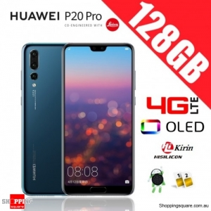 Huawei P20 Pro 128GB CLT-L29 4G LTE Dual Sim Unlocked Smart Phone Midnight Blue