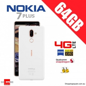Nokia 7 Plus 64GB TA-1062 4G LTE Dual Sim Unlocked Smart Phone White/Cooper