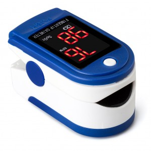 Mini OLED Display Finger Oxygen Saturation Monitor Blue Colour