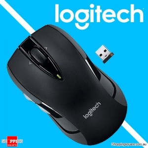 Logitech M545 2.4G Wireless Mouse With Receiver & Two Thumb Buttons Black Colour