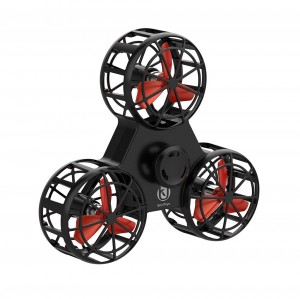 Interactive Handheld Mini Drone Fidget Hand Spinner Hover Device for Anxiety Stress Relief Black Colour