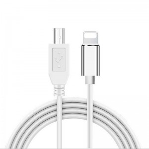 Lightning to USB Type-B OTG Adapter Cable for MIDI Keyboard iPhone iPad