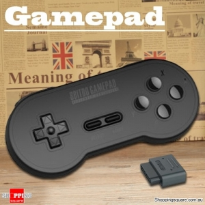 Vintage 8 Bitdo SN30 Style Bluetooth Wireless Gamepad Support SFC Game Host Computer - Black