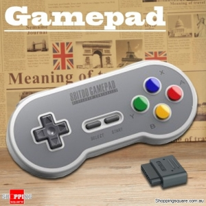 Vintage 8 Bitdo SN30 Style Bluetooth Wireless Gamepad Support SFC Game Host Computer - Light Cool Grey