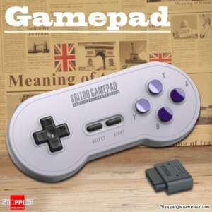 Vintage 8 Bitdo SN30 Style Bluetooth Wireless Gamepad Support SFC Game Host Computer - Violet