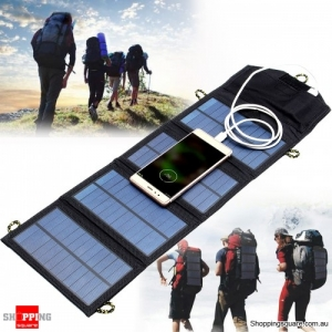 5V 7W Portable Solar Panel Foldable Charger Power Bank With USB Port for Outdoor Travel Emergency