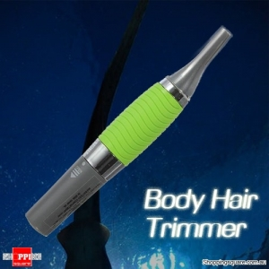 Electric Ear Nose Neck Hair Trimmer Clipper With LED Light