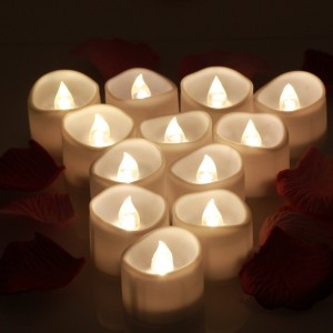 12PCS Battery Operated Electric Flameless LED Tea Light Candle