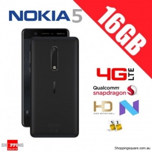 Nokia 5 16GB TA-1053 Dual Sim 4G LTE Unlocked Smart Phone Matte Black