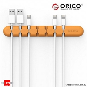 ORICO Tabletop Cable Organizer Orange Colour
