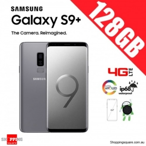 Samsung Galaxy S9 Plus 128GB Dual Sim 4G LTE Unlocked Smart Phone Titanium Gray