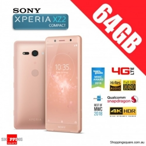 Sony Xperia XZ2 Compact 64GB H8324 4G LTE Dual Sim Unlocked Smart Phone Coral Pink
