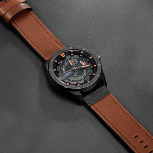 CURREN 8301 Men's Cool Style Leather Strap Time Watch - 03
