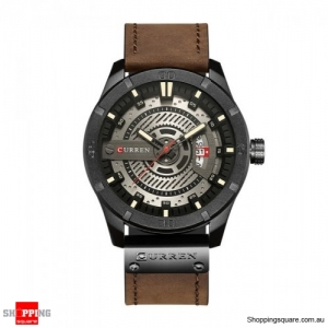CURREN 8301 Men's Cool Style Leather Strap Time Watch - 04