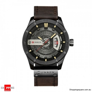 CURREN 8301 Men's Cool Style Leather Strap Time Watch - 05