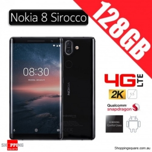 Nokia 8 Sirocco 128GB TA-1005 4G LTE Unlocked Smart Phone Black