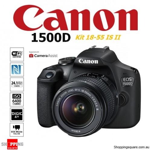 Canon EOS 1500D Kit (18-55 IS II) 24.1MP DSLR WiFi NFC Digital Camera Black