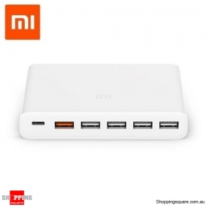 Xiaomi Type-C&A 6 Port 60W Output Dual QC 3.0 Quick Charger