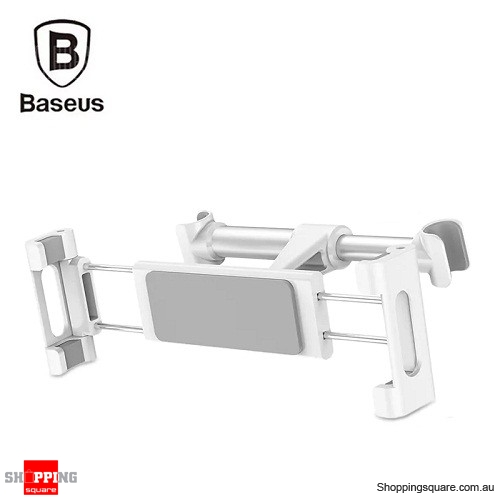 Baseus Adjustable Backseat Bracket Car Mount Holder - White Colour