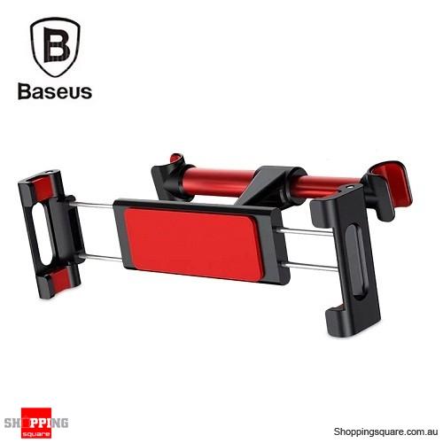 Baseus Adjustable Backseat Bracket Car Mount Holder - Black/Red Colour