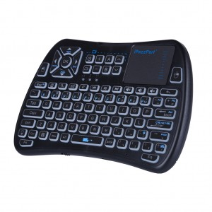 iPazzPort KP-810-61 2.4GHz Mini Airmouse Keyboard with Touchpad & Backlight