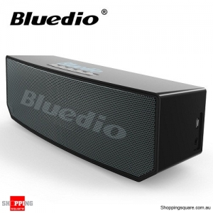 Bluedio BS-5 Bluetooth 4.1 Wireless 3D Stereo HiFi Speaker with Microphone for Calls - Black Colour