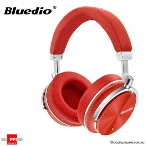 Original Bluedio T4S Active Noise Cancelling ANC Bass Bluetooth Headphone With Mic - Red