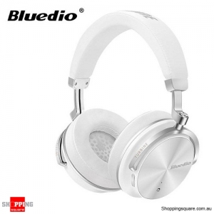 Original Bluedio T4S Active Noise Cancelling ANC Bass Bluetooth Headphone With Mic - White