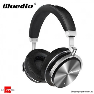 Original Bluedio T4S Active Noise Cancelling ANC Bass Bluetooth Headphone With Mic - Black