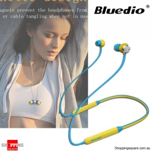 Bluedio TN Magnetic HiFi Bluetooth Earphones Headphone With Active Noise Cancelling Dual Microphone - Yellow