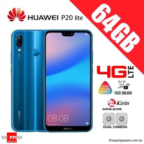 Huawei P20 Lite 64GB ANE-LX2 4G LTE Dual Sim Unlocked Smart Phone Klein  Blue - Shoppingsquare Australia