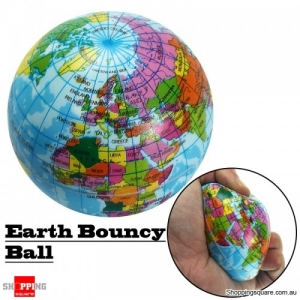 Earth 7.5cm Foam Bouncy World Geography Map Globe Model for Stress Relief Education