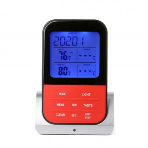 Digital Wireless Meat Thermometer with Dual Strobes for BBQ/Grill