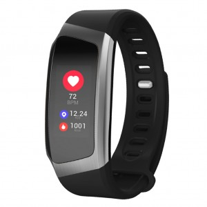 Waterproof Wristband Heart Rate Monitor Smart Watch Gray Colour
