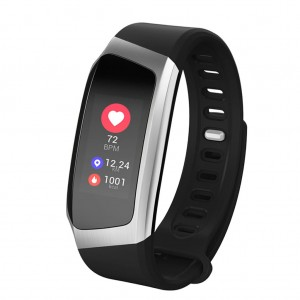 Waterproof Wristband Heart Rate Monitor Smart Watch Silver Colour