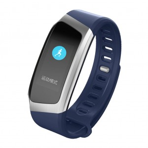 Waterproof Wristband Heart Rate Monitor Smart Watch Blue Colour