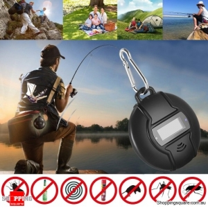 Outdoor Solar Powered Ultrasonic Mosquito Repeller with Carabiner & Compass