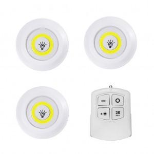 3pcs Wireless Remote Control Battery Powered Nightlight