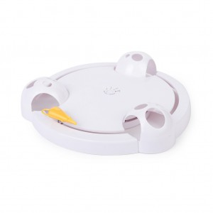Battery Powered Mouse Plate Funny Interactive Toy for Cat