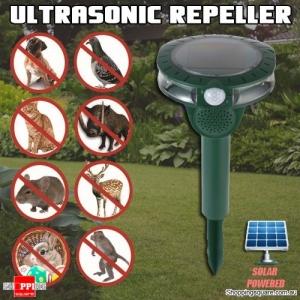 Solar Powered Ultrasonic Animal Cat Rats Dog Snake Bird Rabbit Pest Repeller for Yard Garden