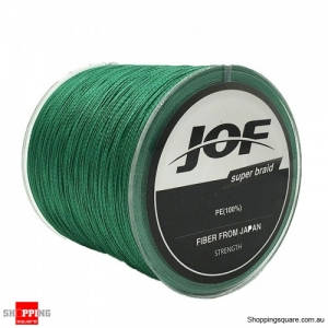 100M PE Braided 8 Strands High Sensibility Super Strong Fishing Line Sea -1.0 Green