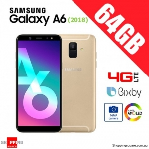 Samsung Galaxy A6 64GB A600FD 4G LTE Unlocked Smart Phone Gold (2018)