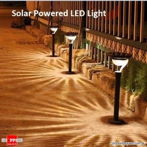 Solar Powered Warm White LED Light Garden Lawn Yard Lamp