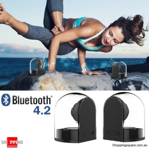 Dual Bluetooth V4.2 Outdoor HiFi Speaker with Mic