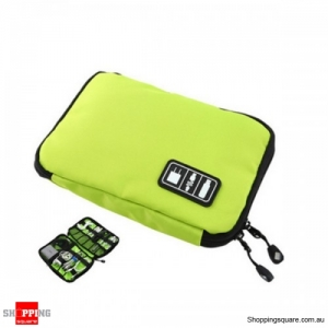 Travel Cable Storage Bag Electronic Accessories Carry Case Waterproof - Green